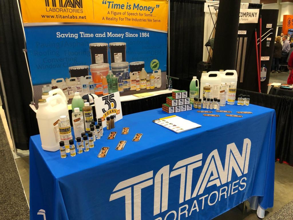 Photo of our booth at the National Pavement Expo 2019, held in Nashville, the USA's Music City.