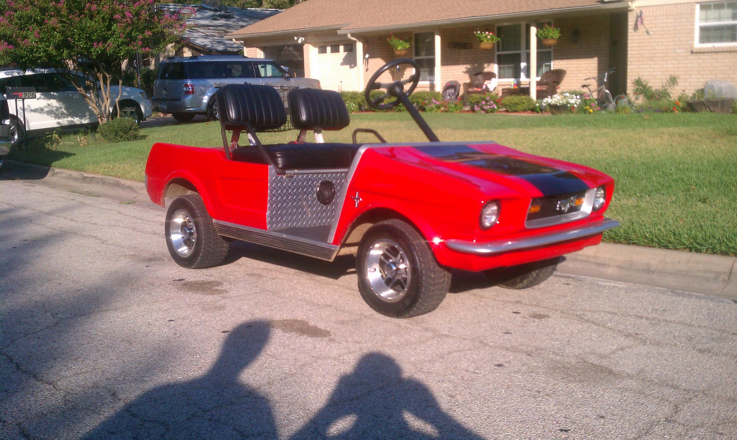 Custom 1965 Ford Mustang Gas Powered Golf Cart Nissan