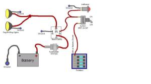 Wiring Diagram for Illuminated Rocker Switch  Nissan