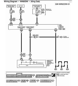 i need wiring diagram for power window switches  Nissan