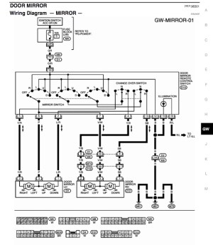 Wiring diagram for powerheated mirrors  Nissan Titan Forum