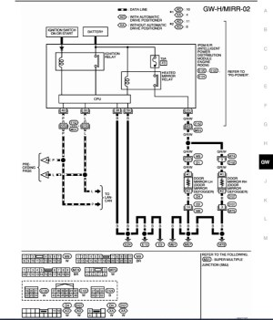 Wiring diagram for powerheated mirrors  Nissan Titan Forum