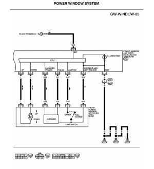 i need wiring diagram for power window switches  Nissan