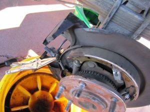 Parking Brake Shoe replacement  Nissan Titan Forum
