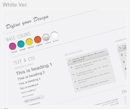 Web Wireframe Kit White