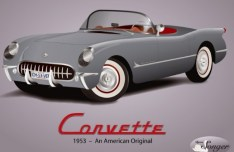 1953 Chevrolet Classic Cars Vector