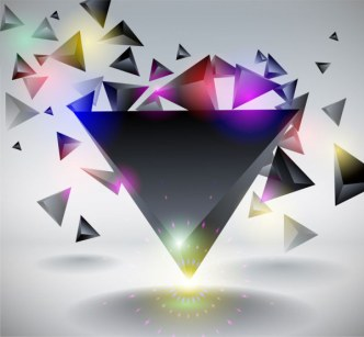 3D Rhombus Triangle Vector