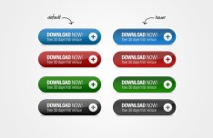 4 Colors Web Download Buttons