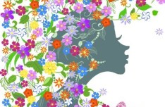 Abstract Butterfly Girl Vector Design 02