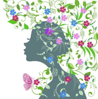 Abstract Butterfly Girl Vector Design 03