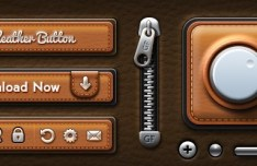 Amazing UI Elements with Leather Texture