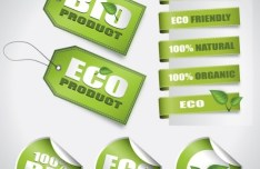 BIO & ECO Product Labels and Tags Vector
