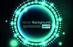 Beautiful Blue Shine Vector Background 02