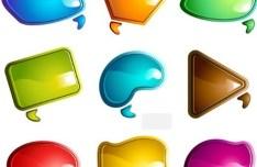 Brilliant Color Chat Bubbles 01