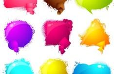 Brilliant Color Chat Bubbles 02