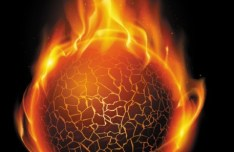 Burning Fire Ball Vector
