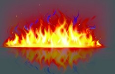 Burning Fire Wall Vector