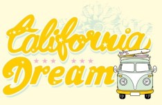 California Dream Vector Illustration