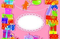 Cartoon Birthday Card Vetcor 01