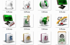 Chinese Mahjong Style System Icons
