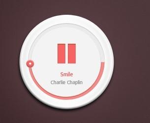 Chunky Thumb Music Player PSD