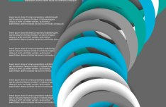 Circular Ring Vector Background 04