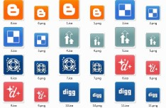 Clean Social Media Small Icons