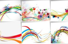 Collection of Colorful Line Vector 01