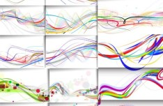 Collection of Colorful Line Vector 02