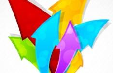 Colorful Arrows Vector Illustration