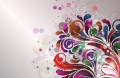 Colorful Flourish Vector Background