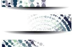 Colorful Polka Dot Vector Banner