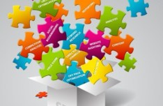 Colorful Vector Puzzle Box