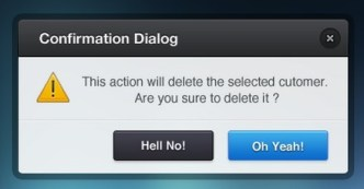 Confirmation Dialog PSD