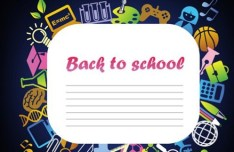 Creative Back To School Vector Material 02