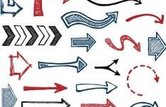 Creative Hand-Painted Vector Arrows