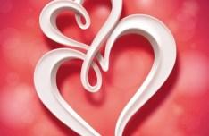 Creative Heart-Shaped Greeting Card