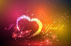 Creative I Love You Vector Background 01