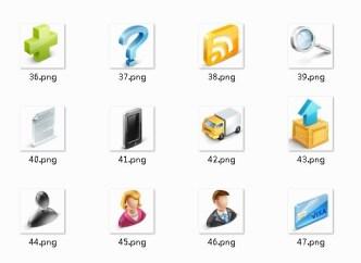 E-Commercial Website Icons