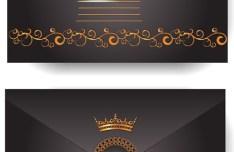 Elegant Golden Border VIP Card Vector 01