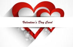 Elegant Valentine's Day Card Template Vector 03