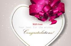 Elegant Valentine's Day Card Template Vector 11
