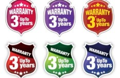 Elegant Warranty Vector Label