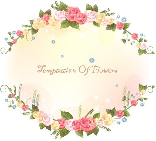 Flower and Vine Vector Border Design 01