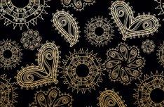 Golden Heart-shaped Pattern Background 2