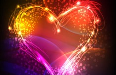 Gorgeous Valentine's Day Heart Vector Background