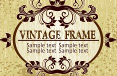 Graceful Classical Vector Frame 02