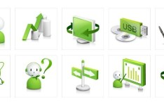Green Business Icons Vector