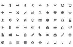 Grey Icon Set