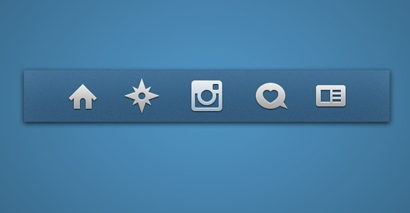 Grey Instagram Icons